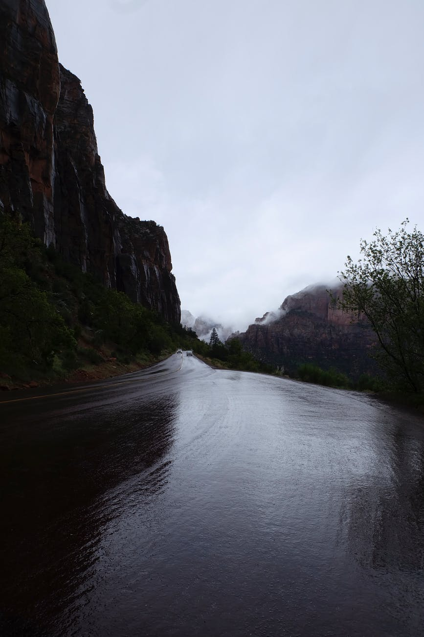 photo of wet road
